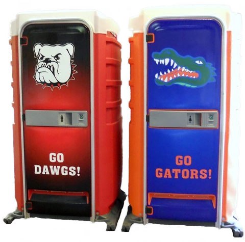 Special Event Porta Potties, Georgia Bulldogs and Florida Gators